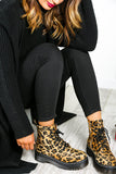 Just Walk Away - Platform Boots In LEOPARD