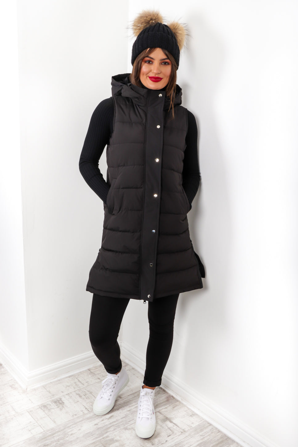 Keep It Zipped - Black Padded Gilet