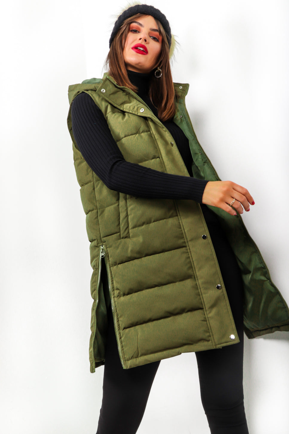 Keep It Zipped - Khaki Padded Gilet