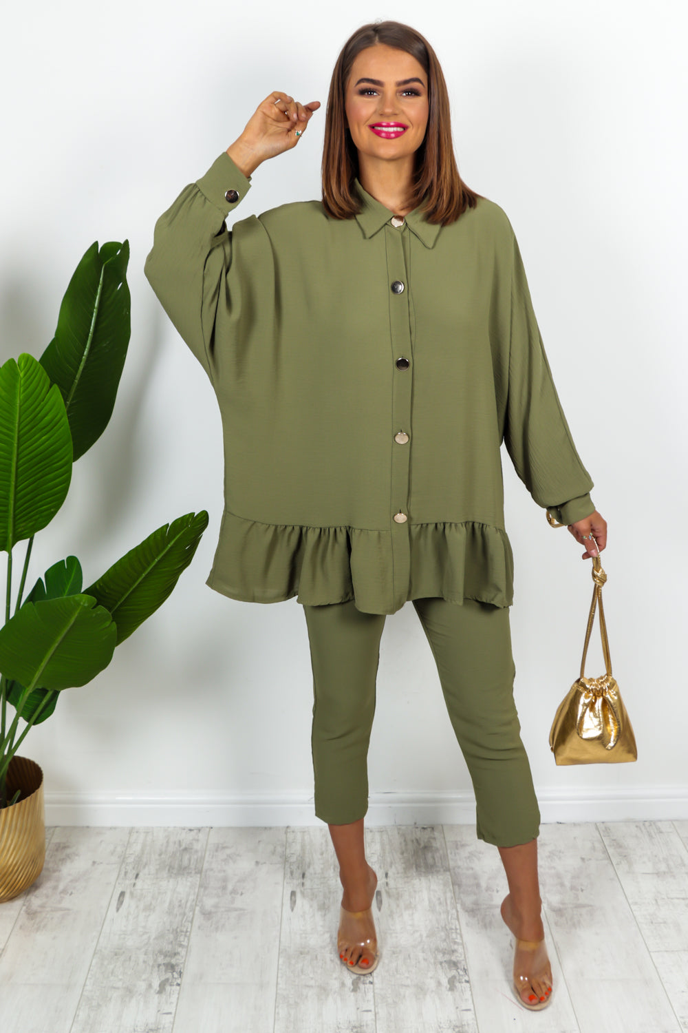 Khaki Co-ord Set
