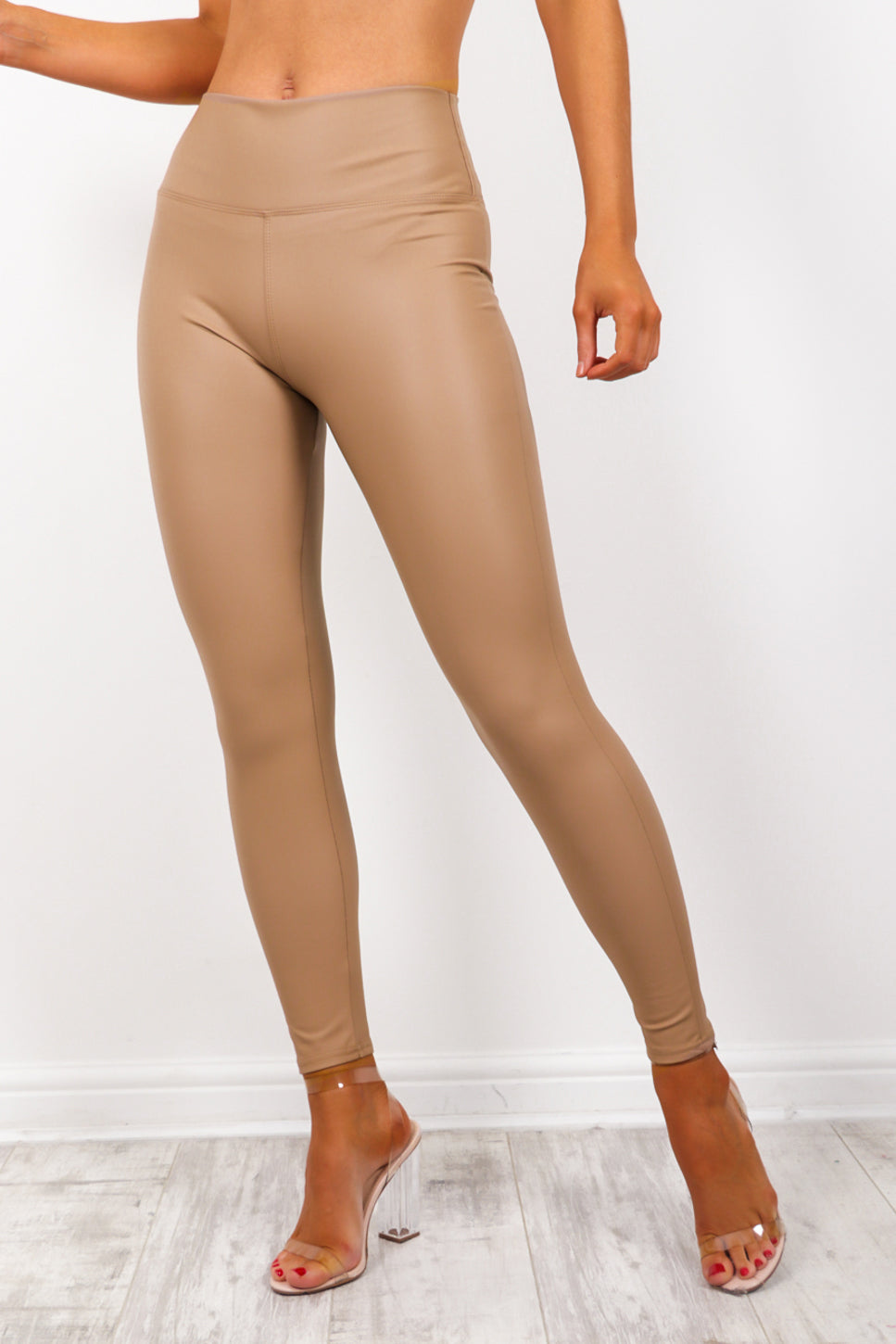 Leather Let Me Go - Nude Leggings