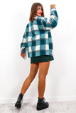 Let's Check It On - Teal Check Shacket