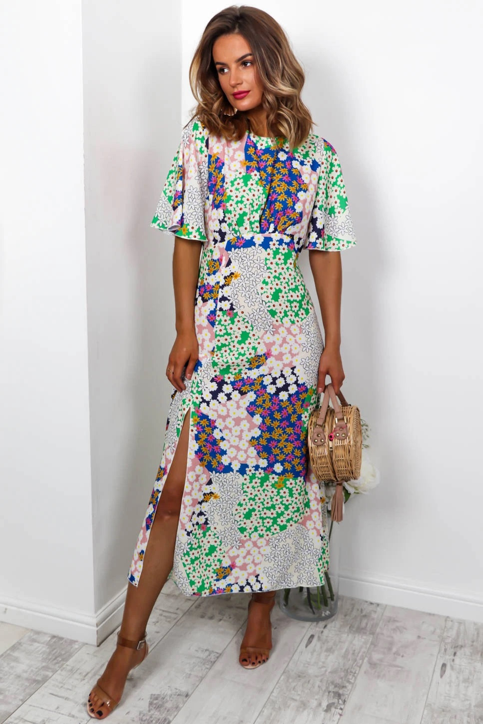 Let's Split - Maxi Dress In MULTI/FLORAL