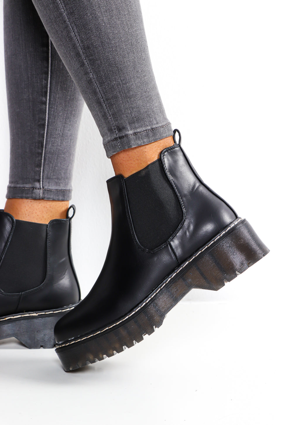 Made In Chelsea - Black Ankle Boot
