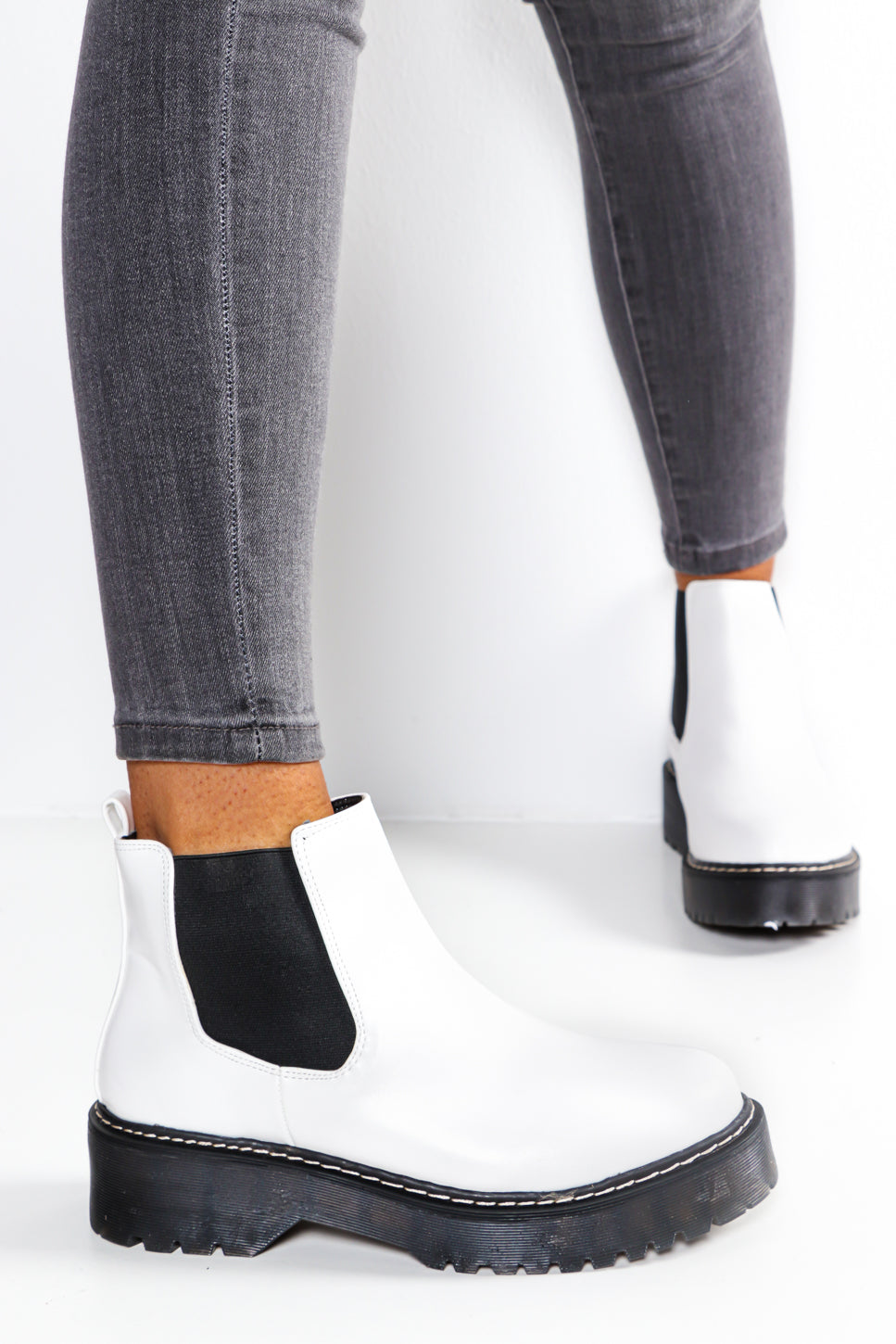 Made In Chelsea - White Ankle Boot