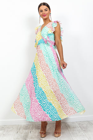 Mamma Mia - Dress In MULTI/SPOT