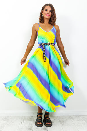 Sunshine And Rainbows - Dress In YELLOW/MULTI