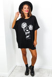 Mickey Mouse - T-shirt Dress In BLACK
