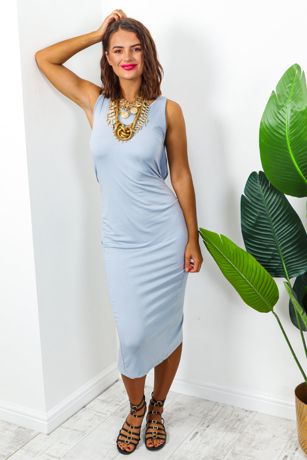 Good Vibes - Dress In GREY