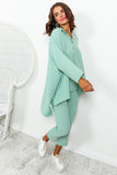 Mint Green Top And Pants Coordinate Set