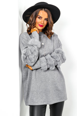 Mother Fluffer - Jumper In GREY