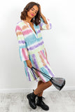 Multi Colour Midi Smock Dress DLSB Womens Fashion
