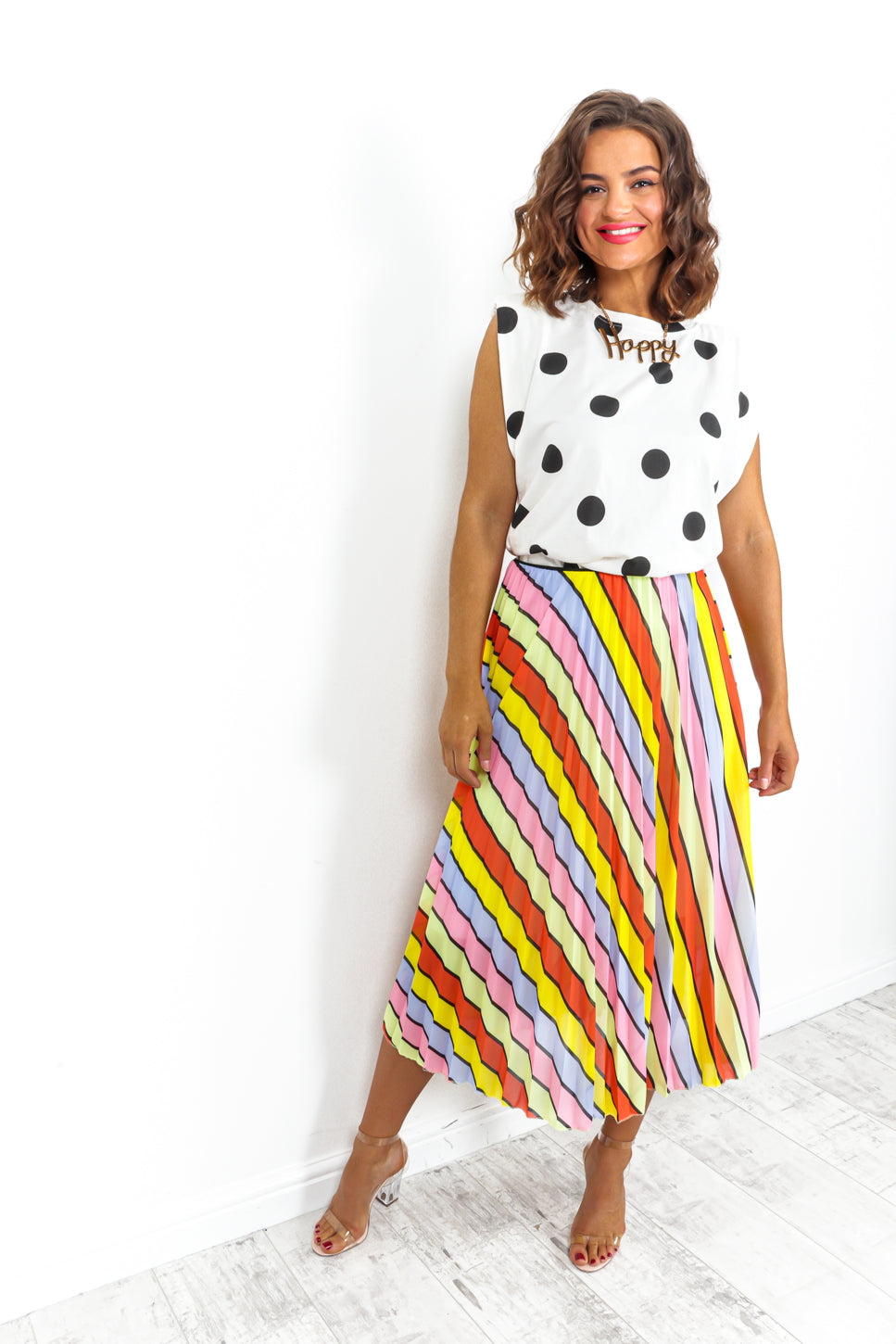 We'll Pleat Again - Skirt In MULTI/STRIPE