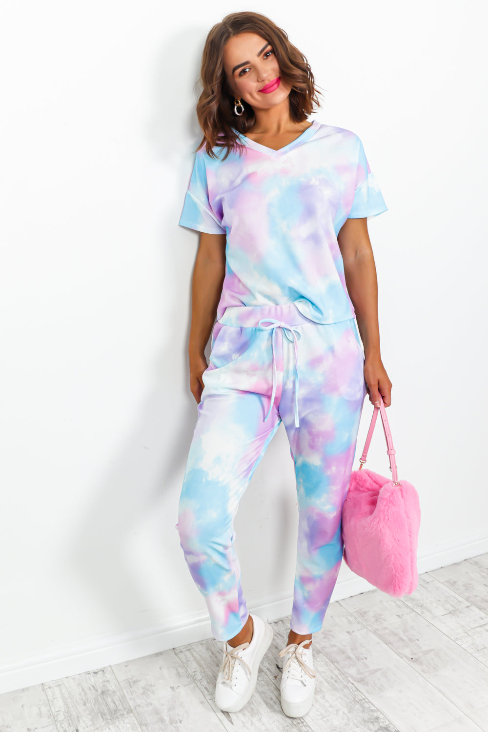 Multi Tie-dye Tracksuit Coordinate Set