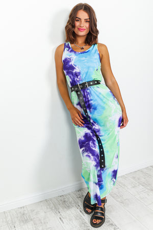 Multi Colour Tie-dye Maxi Dress