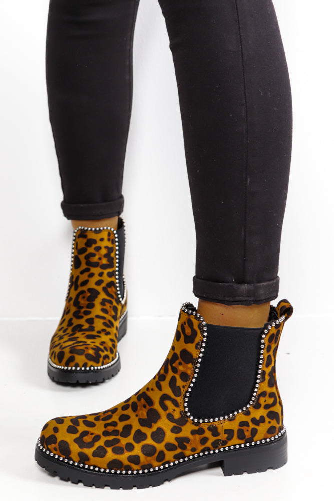 Natural Attraction - Leopard Print Ankle Boots