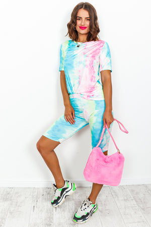 Neon Multi Tie-dye Coordinate Set