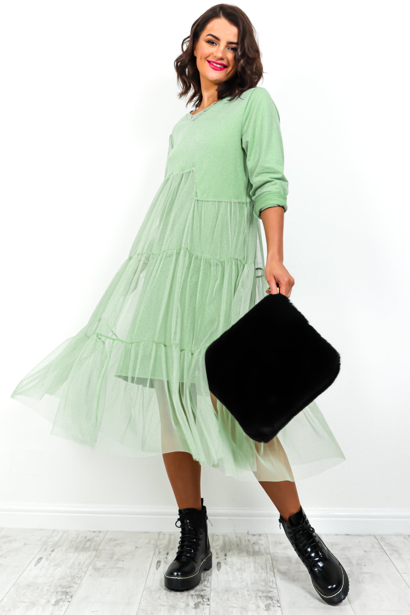 Net's Roll - Dress In MINT