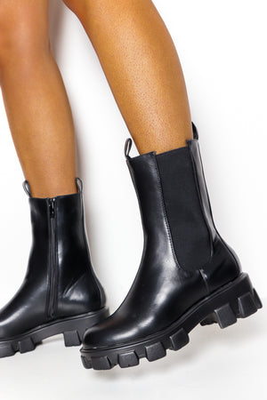 No Such Thing - Black Mid Calf Boot