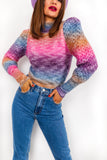 Ombre Autumn - Multi Bright Knitted Jumper
