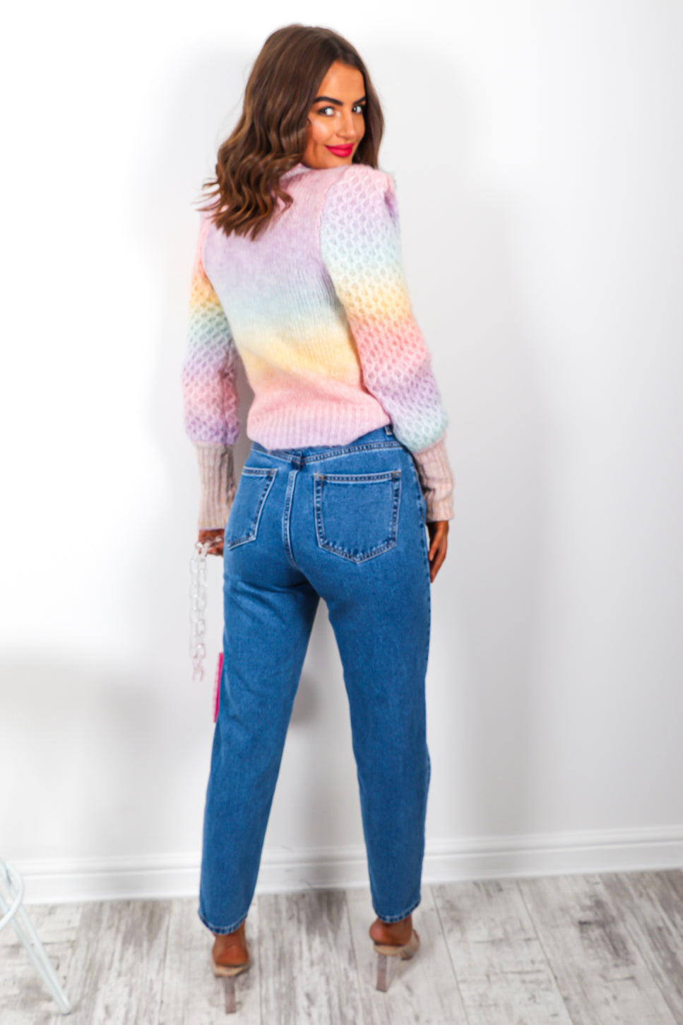 Ombre Autumn - Multi Pastel Knitted Jumper