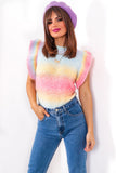 Ombre Ocean - Multi Pastel Knitted Top