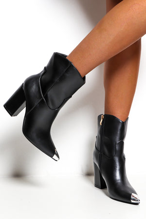 On Point - Black Heeled Boot