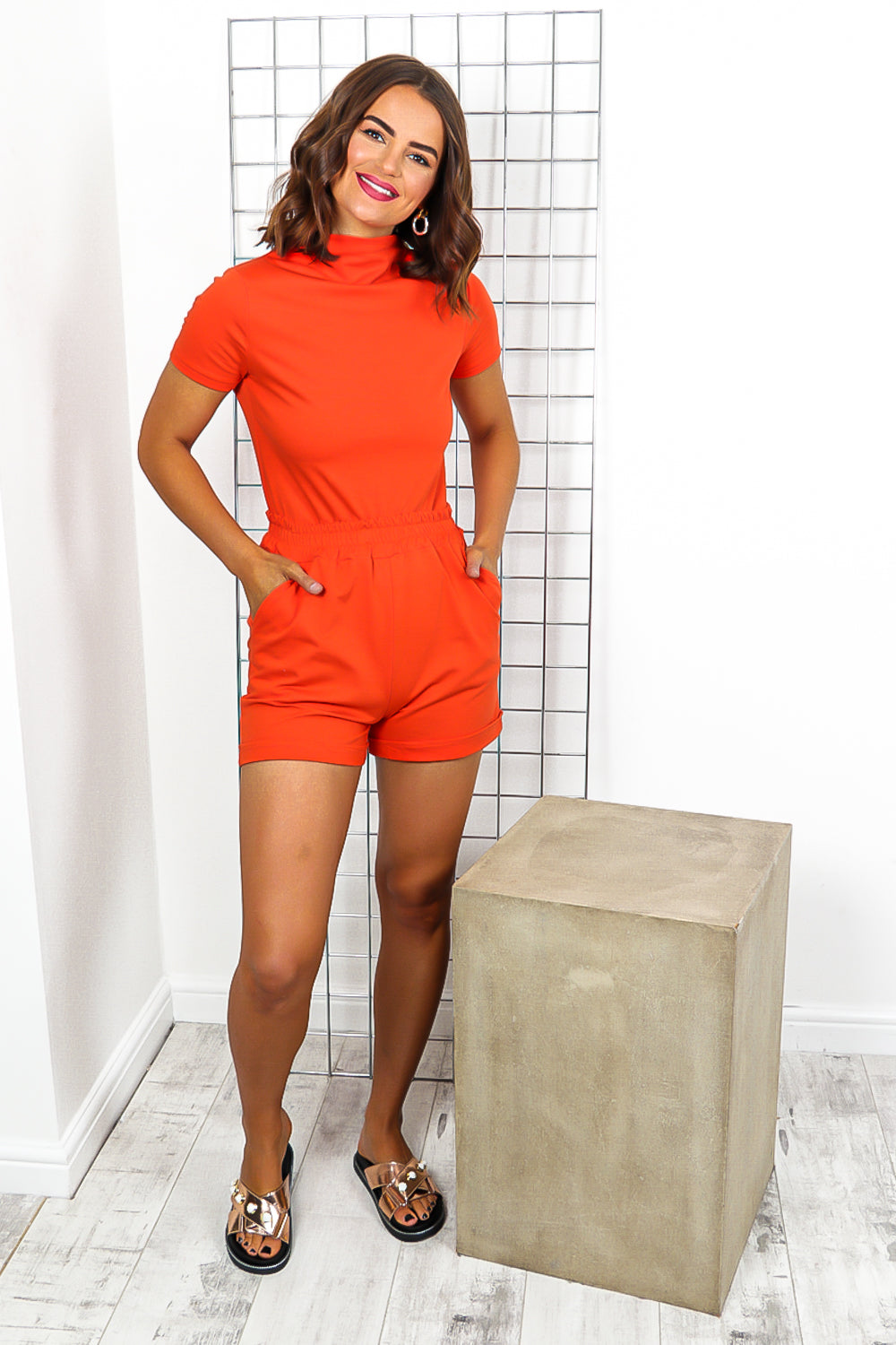 Orange Top And Short Coordinate Set