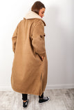 Out Of Pocket - Camel Longline Shacket