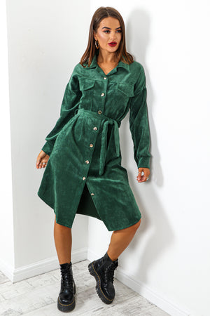Own Ac-cord - Forest Midi Shirt Dress