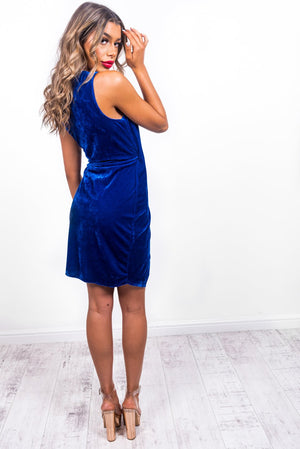 Once In A Blue Moon - Mini Dress In COBALT