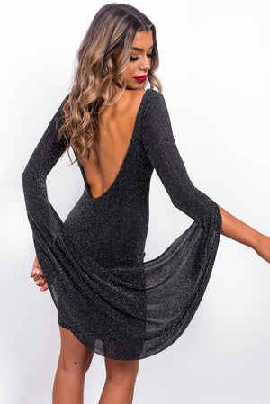 Surprise Me - Mini Dress In BLACK