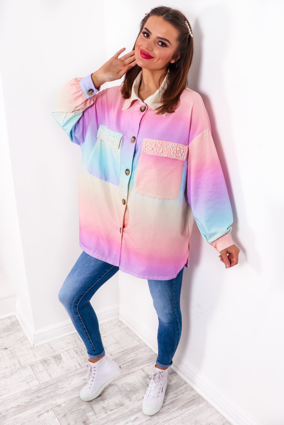 Pearls Gone Wild - Multi Ombre Shirt