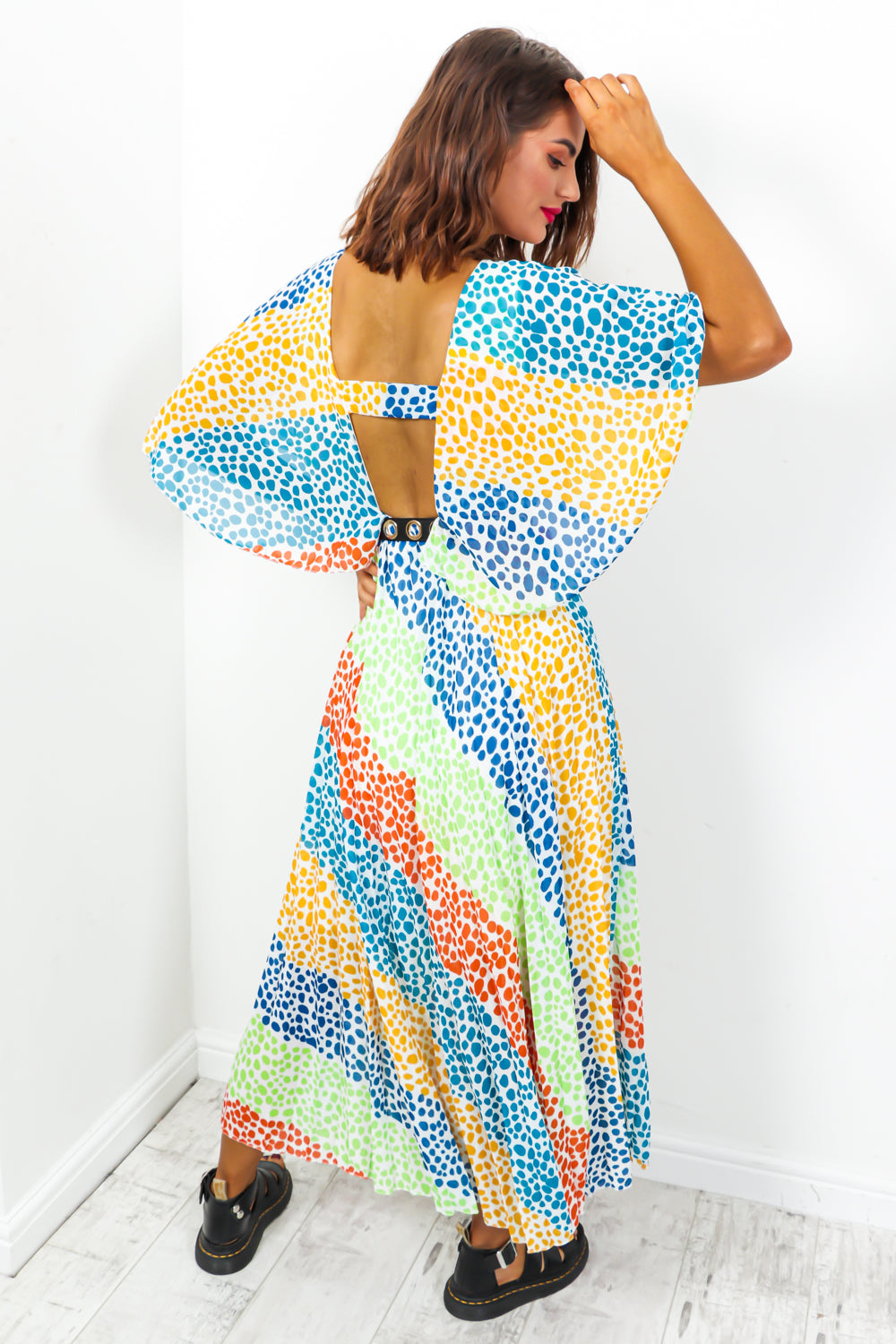 Timeless - Maxi Dress In BLUE/MULTI/SPOT