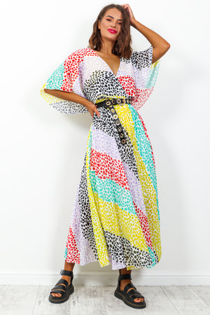 Timeless - Maxi Dress In BLACK/MULTI/SPOT