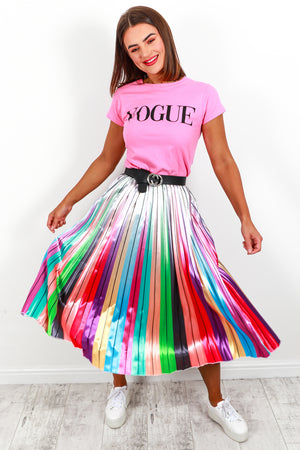 Chasing Rainbows - Midi Skirt In BRIGHT