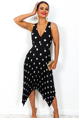 Polka Dream - Dress In BLACK