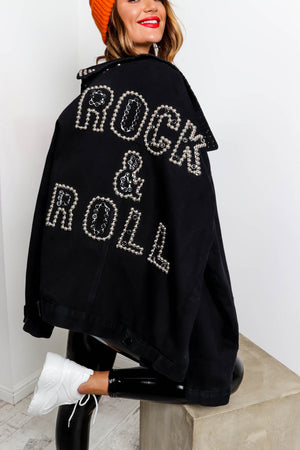 Rock And Roll All Night - Coat In BLACK