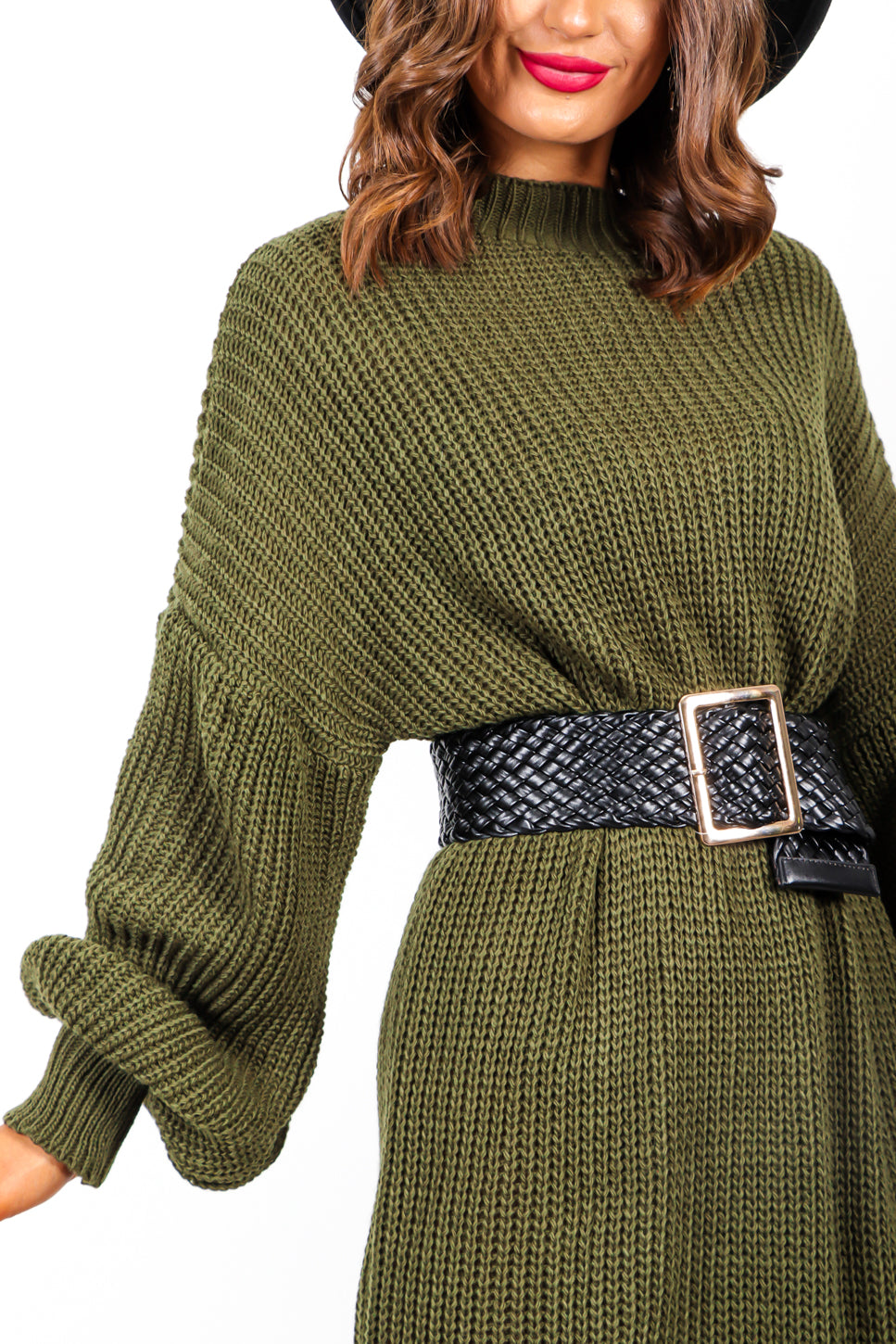 Secure Your Style - Black Gold Weaved Belt