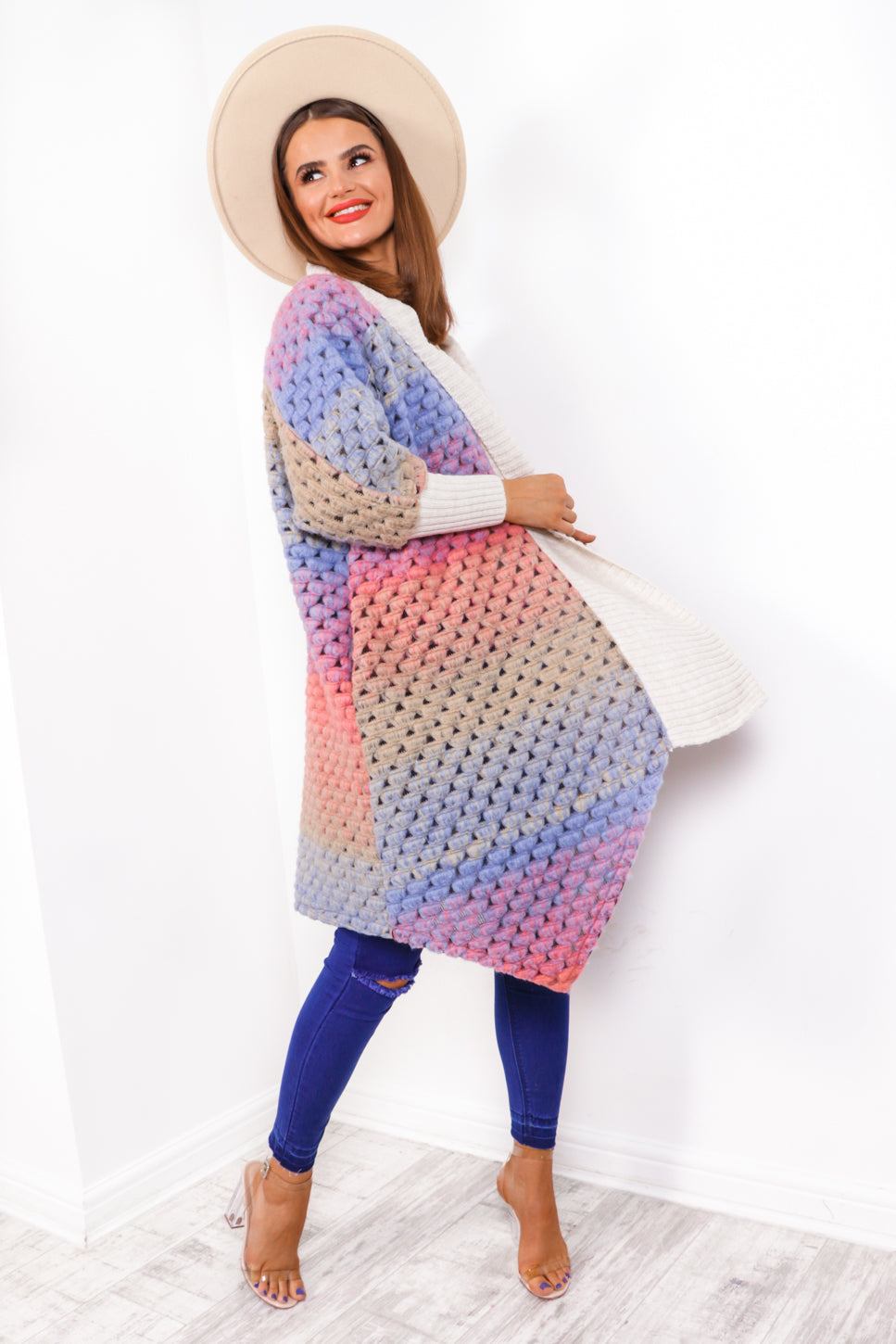 Seeing Bubble - Blue Multi Cardigan