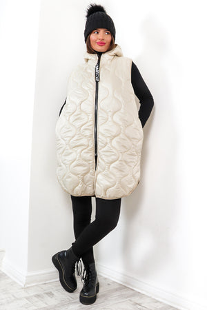 Send My Love - Cream Quilted Gilet