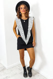 Black Silver Sequin Dress