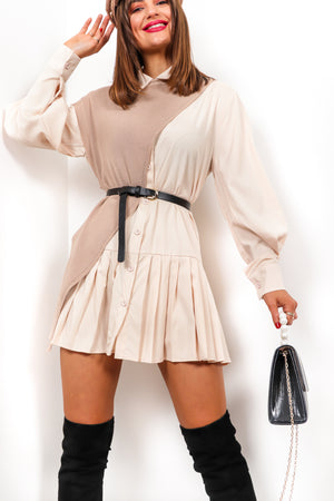 Shirt Feelings - Nude Beige Co-ord Set