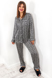 Sleep On It - Black White Printed Pyjama Set