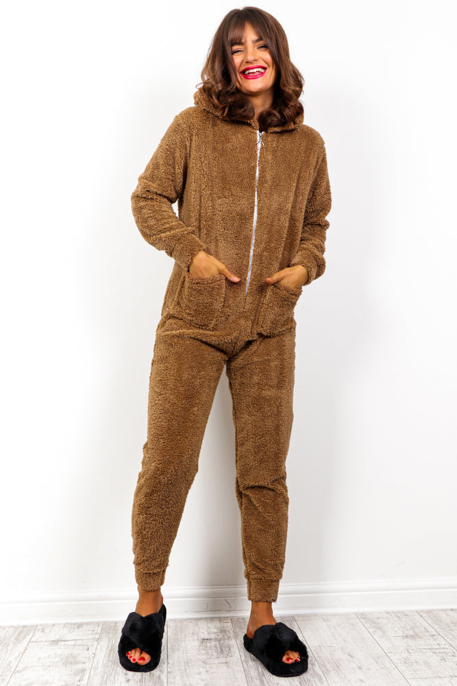 Sleepover - Tan Teddy Onesie
