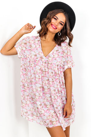 Floral Print Mini Dress Playsuit DLSB Womens Fashion