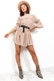 Smock Me Down - Dress In BEIGE