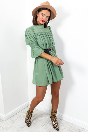 Smock Me Down - Dress In GREEN