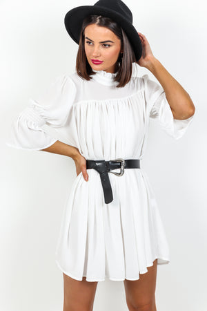 Smock Me Down - Dress In WHITE