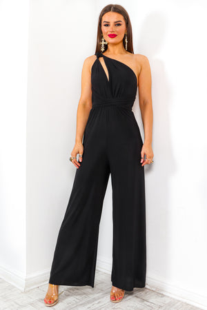 So Sophisticated - Black Multi-Tie Jumpsuit
